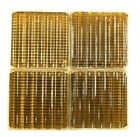 Amber Luxfer Prism Glass tiles SET OF FOUR