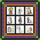 Quilt Kit Halloween Country with 9 Finished Embroidery Blocks