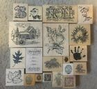 PSX RETIRED RARE HTF RUBBER STAMPS ASSORTED SIZE DESIGN USED CONDITION EXCELLENT