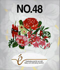 EXOTIC FLOWEERS 48 Embroidery Card B Deco Brother Baby Lock Simp pes