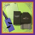 Stampin Up BITTY BAT Punch  SCALLOPED TAG TOPPER   scary embossing folder