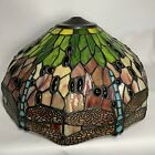 Tiffany Style Stained Glass Lampshade Dragonfly 16