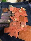 XL Lot Rubber Stamps unmounted Plus Justrite Letters Stamp System EUC BD5