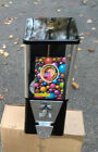 OAK VINTAGE GUMBALL MACHINE AND MORE COMES WITH LOCK AND KEY