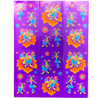 S488 Lisa Frank Vintage DIVA DRAGONFLY with flowers Sticker Sheet