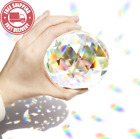 Together Life 80Mm Clear Cut Crystal Suncatcher Ball Prisms Glass Sphere Faceted