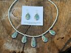 Native American Sterling Silver set Turquoise beads Necklace signedLinda
