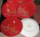 CHRISTMAS SET OF 4   APPETIZER / LUNCH PLATES  HOLIDAY HOLIDAY CIB FROM SEARS