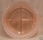 MISS AMERICA PINK DEPRESSION GLASS DIVIDED RELISH DISH