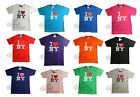 I HEART NY T SHIRT LOVE NEW YORK CITY TEE OFFICIAL TAGS WHITE BLACK PINK PURPLE
