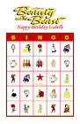 Beauty & the Beast Birthday Party Game Bingo Cards