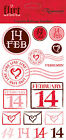Reminisce Rub Ons FLIRT ICONS scrapbooking Valentines LOVE