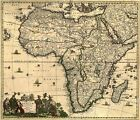 1688 Africa Middle East Historic Old World Map - 16x20