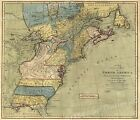 North America 1771 Colonial Map - 13 Colonies - 20x24