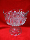 1898 EAPG THOMPSON GLASS BOWTIE PATTERN LARGE COMPOTE early american glass