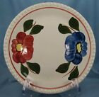 POM POM LUNCHEON PLATE Multicolor BLUE RIDGE SOUTHERN POTTERY Flowers AS IS (O)