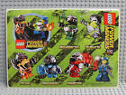 NEW Lego Minifig Power Miners SCRAPBOOK STICKERS Rock Monsters Crystals Dynamite