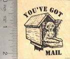 Youve Got Mail Papillon Dog Rubber Stamp Reba H50209 WM