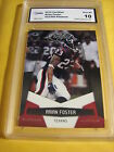 ARIAN FOSTER HOUSTON TEXANS 2010 CERTIFIED PLATINUM # 622 999 GRADED 10