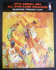 1977 NBA All-Star game program with Leroy Neiman cover