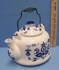 Vintage Japan Armbee Whtie & Blue Floral Blossom Fine Chine Tea Pot