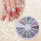 3000X 2mm Nail Art Rhinestones 12 colors Round Glitters Tips Manicure Deco Wheel