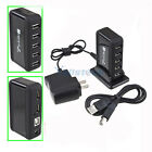 Black HUB Powered 7-Port High Speed+Free AC Adapter USB 2.0