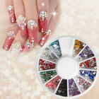 12 Colors 600 Five-pointed Star Wheel Tips Nail Art Decoration Rhinestones
