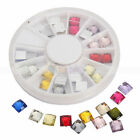 12 Colors Wheel Nail Art Decoration Square Diamond Manicure Rhinestones