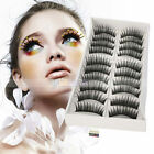 10 Pairs Black False Eyelashes Fake Makeup Eye Lash 01#
