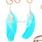 "New Fashion Elegant Charming Blue Girl""s Feather Wing Style Dangle Earrings"