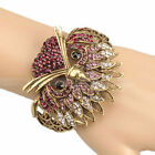Stylish Owl Style Rhinestone Open Bangle Bracelet
