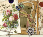 Vtg Scrapbooking Jewelry Roses Mobile Friendly Ebay Auction Template Listing