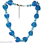 Kirks Folly murano glass love heart necklace S5186AW