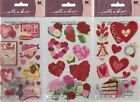 STICKO Assorted STICKERS Choice Scrapbooking ROSES HEARTS  VALENTINES DAY