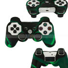 New Silicone Skin Case for Sony Playstation 3 PS3 Controller Green + Black