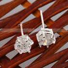 New Fashion charming 925 Silver Big Zircon Ear Studs