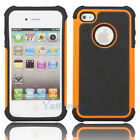 Silicone Robot Executive Armor Shock Proof Case Cover Skin for iPhone 4 4S Orang