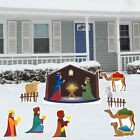 Nativity Scene Christmas Yard Decoration Card Set 8pcs 17 Short Stakes