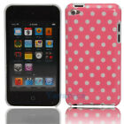 New Small Polka Dots Hard Back Case Cover Skin for iPod Touch 4 Pink + White