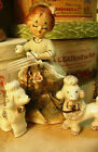 Japan Porcelain Poodles & Lady Figurines Antique approx 1921-1941