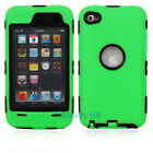 Hot Deluxe 3Piece Hard Case Cover Skin for ipod Touch 4 4G 4th Green + Black