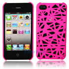 "Hot Bird""s Nest Style Plastic Hard Case Cover for iPhone 4 4G 4S Real Rose"