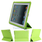 Slim Magnetic Smart Cover PU Leather Stand Wake Up/Sleep Case for iPad 2 3 Green