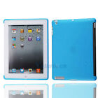 Hot Soft Gel TPU Protective Back Case Smart Cover for Apple iPad 2 2nd blue