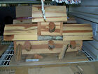 Large 4 Bay Ceder Bird House Hand Crafted One Of A Kind Missing Shingle