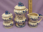 Sugar Bowl with Lid Lot of 3