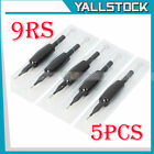 5pcs 9RS Disposable Sterilized Tattoo Needle Round Liner Silicone Grip Tube Tip