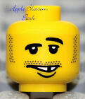 NEW Lego Pirate MINIFIG HEAD w/Black Beard & Missing Tooth Smile - Police/Castle