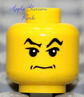 NEW Lego Pirate MINIFIG HEAD Male Boy w/Grin - Lucius Malfoy/Harry Potter/Police